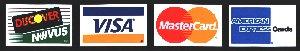 Discover Novis VISA MasterCard American Express