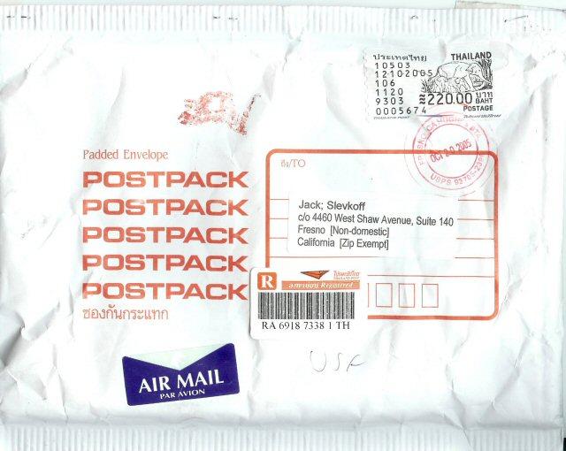 Register air mail